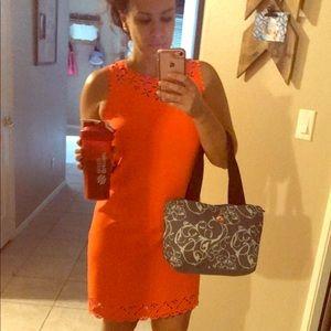 J. Crew Neon Orange Sheath Dress
